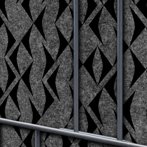 Florenz Fish - Dekor Design Vlies Sichtschutz für Doppelstabmattenzaun