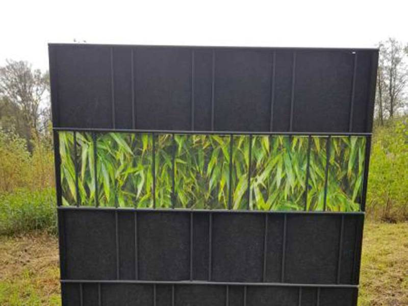 Zaun Sichtschutz Bambus Blätter