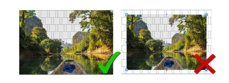 Sichtschutz Zaunmotiv erstellen Bild an Panorama anpassen
