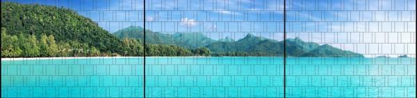 Tropical - Panorama XXL bedruckte Sichtschutzstreifen für Doppelstabmattenzaun