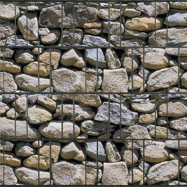 Algarve - Bedruckter Sichtschutz Streifen Rolle Doppelstab Zaun