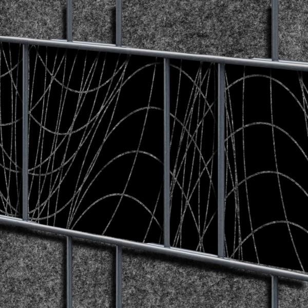 Florenz Wave - Dekor Design Vlies Sichtschutz für Doppelstabmattenzaun