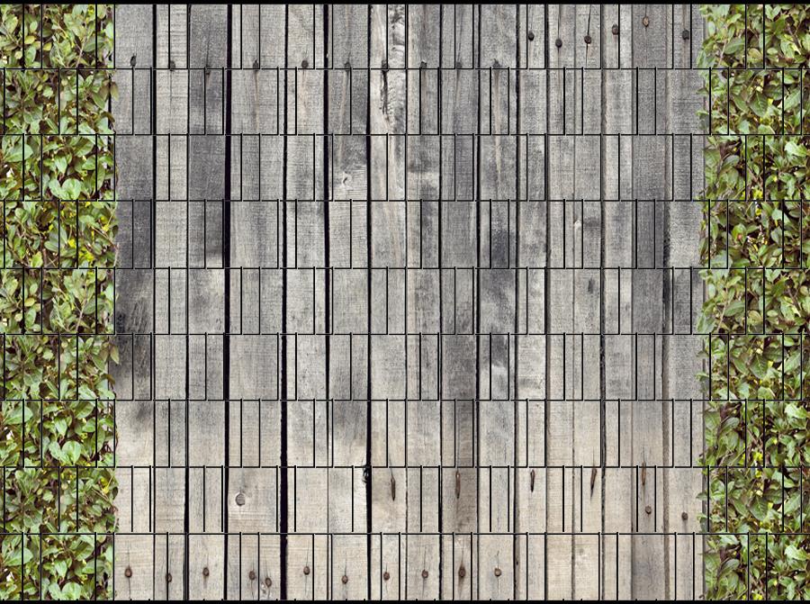 holzwand kirschlorbeer doppelstabmatten sichtschutz zaundruck shop sichtschutzstreifen. Black Bedroom Furniture Sets. Home Design Ideas