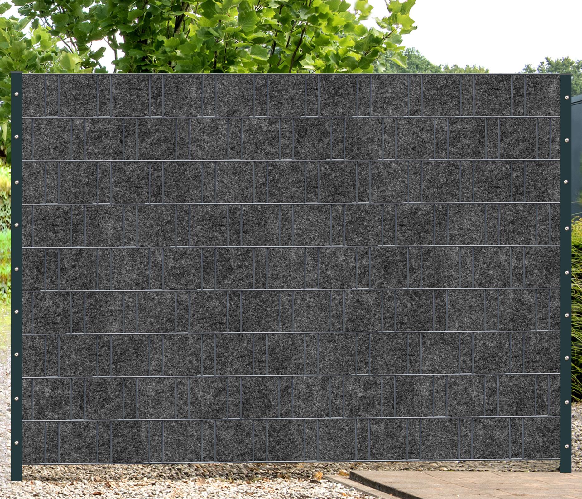 Sichtschutz Florenz Grau 1 Rolle 26m Fur Doppelstabmatten