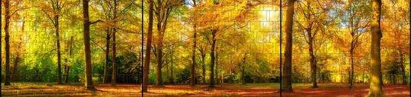 Herbst - Panorama XXL bedruckte Sichtschutzstreifen für Doppelstabmattenzaun