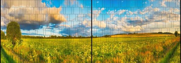 Wiese - Panorama XL bedruckte Sichtschutzstreifen für Doppelstabmattenzaun