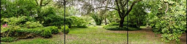 Parklandschaft - Panorama XXL bedruckte Sichtschutzstreifen für Doppelstabmattenzaun