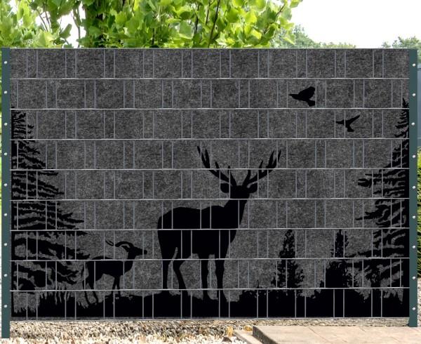 Florenz Forest (Wildnis) 2 - Melange mit schwarzen Motivdruck