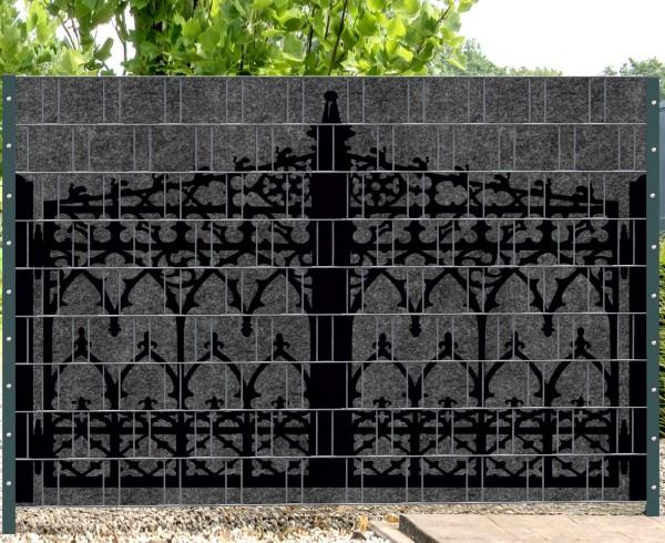 Florenz Gate - Melange mit schwarzen Motivdruck