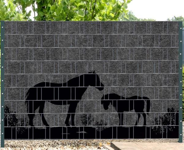 Florenz Country 4 - Melange mit schwarzen Motivdruck