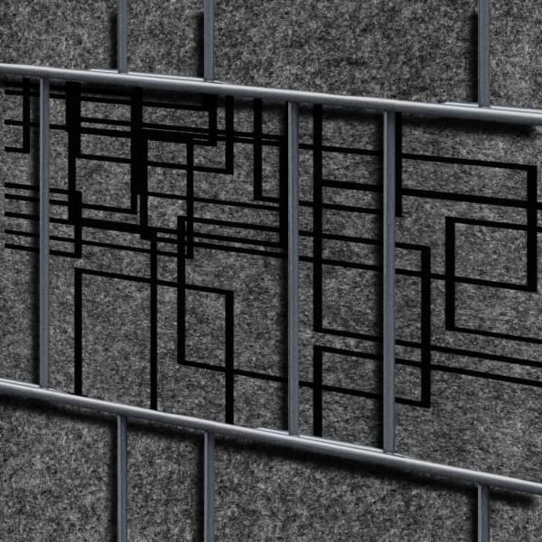 Florenz Squares Einzelstreifen - Dekor Design Vlies Sichtschutz für Zaun