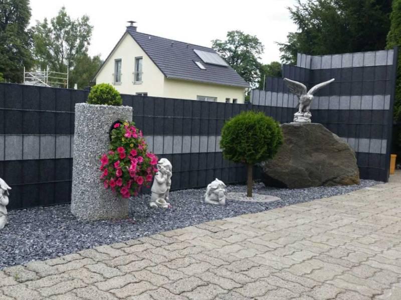 Zaun Sichtschutz Uni Design Vorgarten