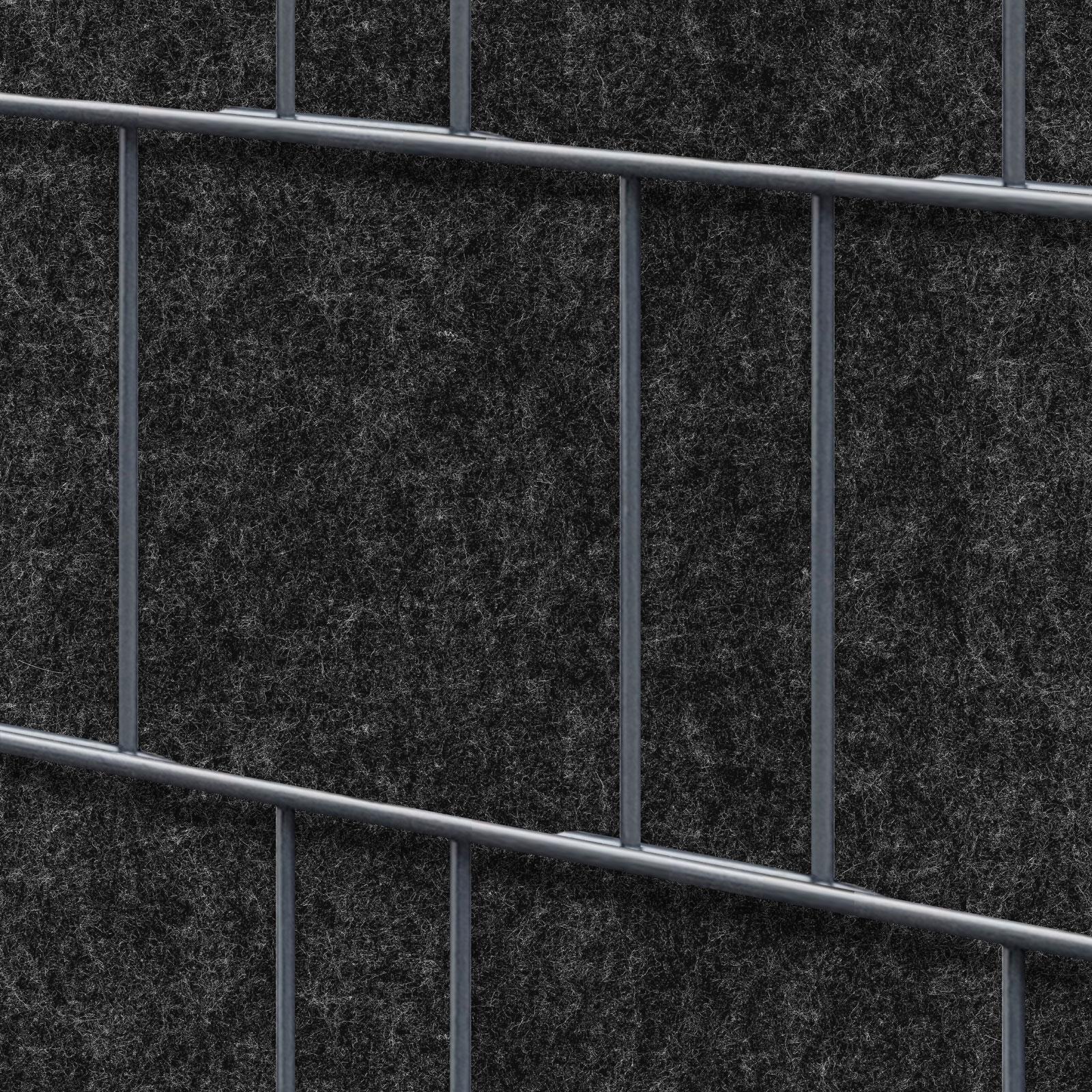 Sichtschutz Milano Anthrazit 1 Rolle 26m Fur Doppelstabmatten