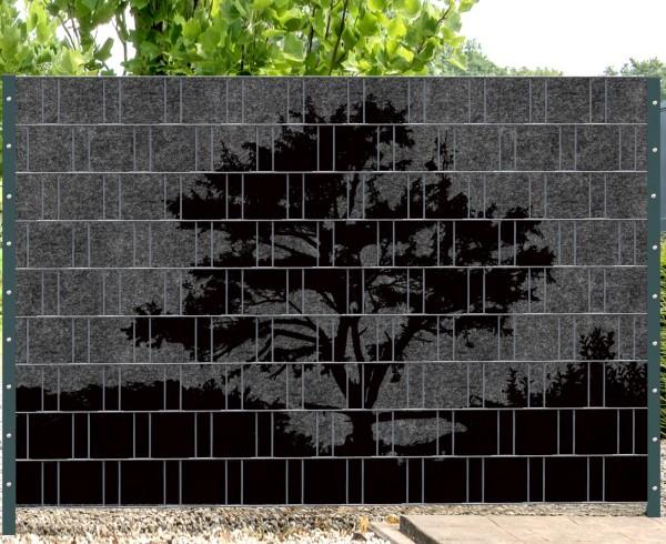 Florenz Country 3 - Melange mit schwarzen Motivdruck