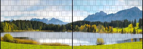 Bavaria - Panorama XL bedruckte Sichtschutzstreifen für Doppelstabmattenzaun