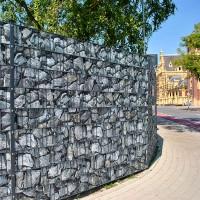 Bruchstein Groß - Bedruckter Sichtschutz Doppelstabmattenzaun