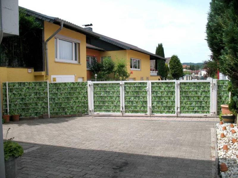 Zaun Sichtschutz Bambus Außentor