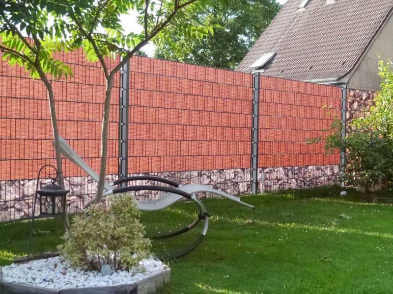 Zaun Sichtschutz Weidengeflecht