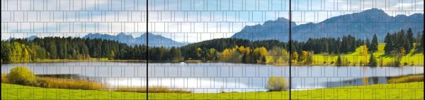 Bavaria - Panorama XXL bedruckte Sichtschutzstreifen für Doppelstabmattenzaun