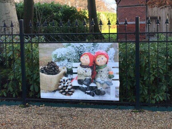 Zaunposter Weihnachtsstimmung