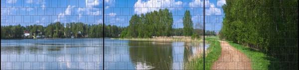 See - Panorama XXL bedruckte Sichtschutzstreifen für Doppelstabmattenzaun
