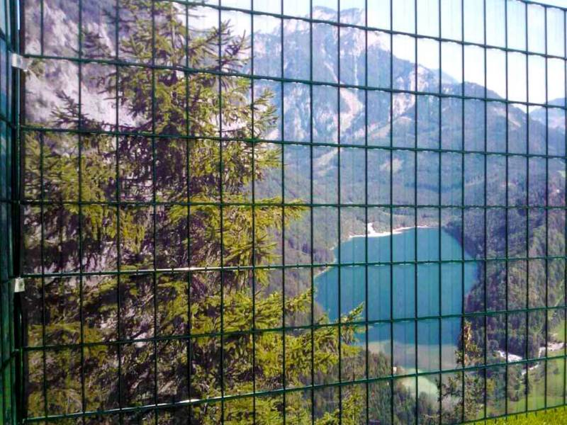 Zaun Sichtschutz Berglandschaft See