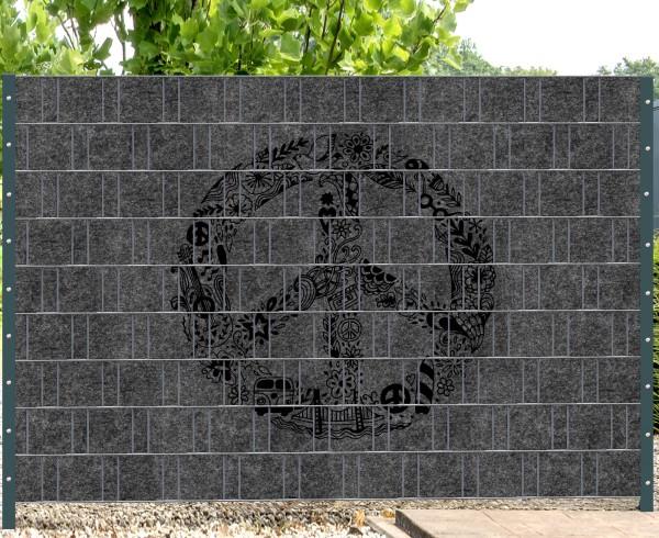 Florenz Peace - Melange mit schwarzen Motivdruck