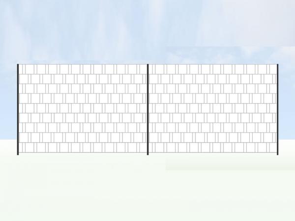 Eigenes Motiv - Panorama Zaun XL für Doppelstabmatten