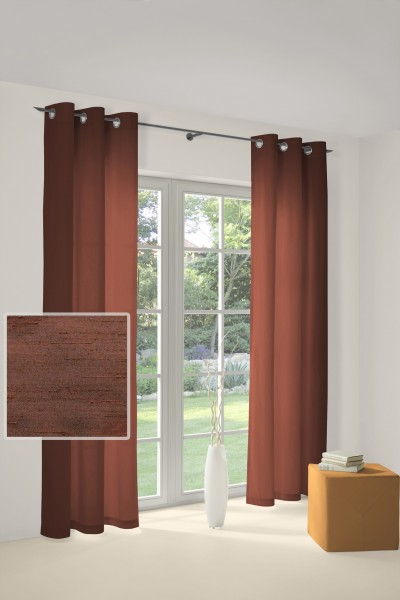 kastanie-braun Gardinen Vorhänge mit Ösen