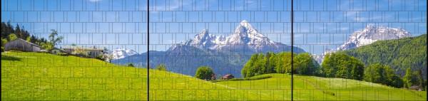 Alpen - Panorama XXL bedruckte Sichtschutzstreifen für Doppelstabmattenzaun