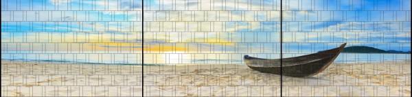 Robinson - Panorama XXL bedruckte Sichtschutzstreifen für Doppelstabmattenzaun