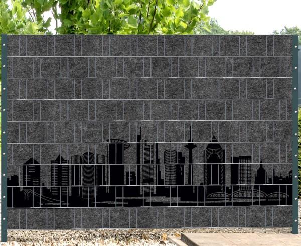 Florenz City 3 - Melange mit schwarzen Motivdruck