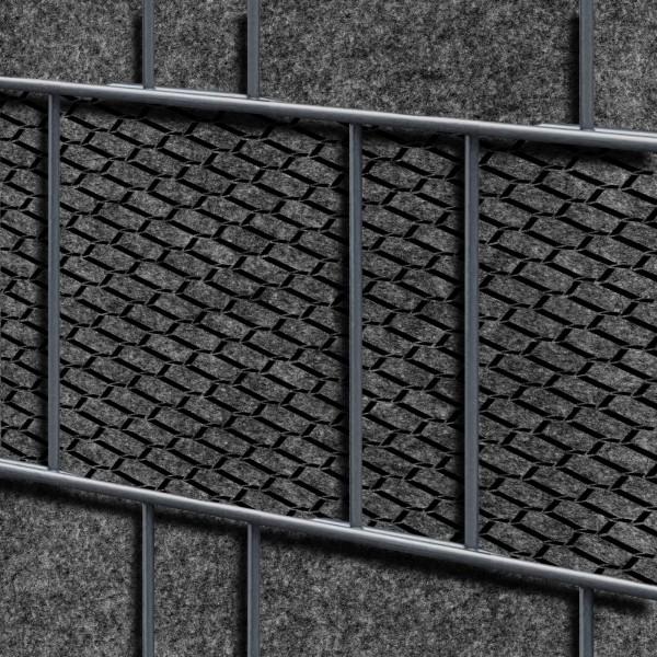 Florenz Brick Einzelstreifen - Dekor Design Vlies Sichtschutz für Zaun
