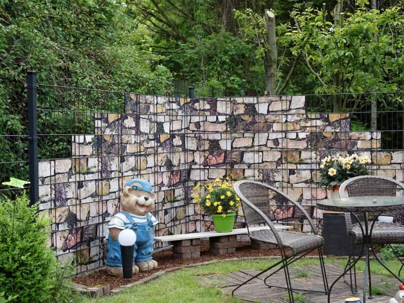 Zaun Sichtschutz Steingewächse