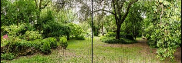 Parklandschaft - Panorama XL bedruckte Sichtschutzstreifen für Doppelstabmattenzaun