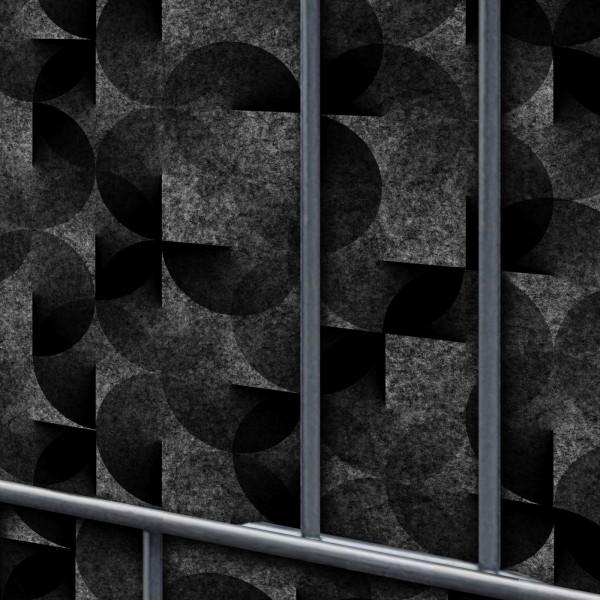 Florenz Flora Einzelstreifen - Dekor Design Vlies Sichtschutz für Zaun