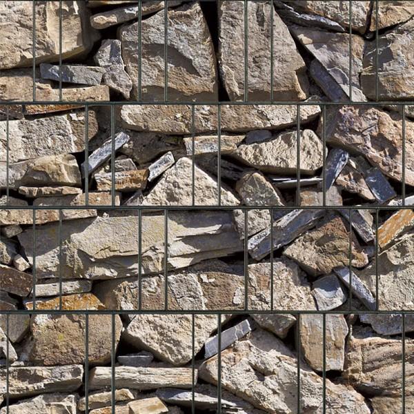 Provence - Bedruckter Sichtschutz Streifen Rolle Doppelstab Zaun