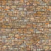 Stein bunt - Bedruckter Zaun Sichtschutz Streifen