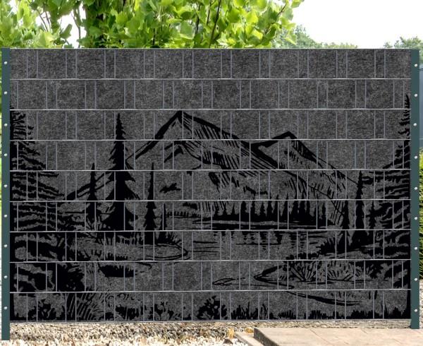 Florenz Forest (Wildnis) 1 - Melange mit schwarzen Motivdruck (Wildnis)