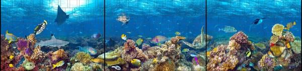 Ozean - Panorama XXL bedruckte Sichtschutzstreifen für Doppelstabmattenzaun