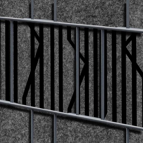Florenz Lines Einzelstreifen - Dekor Design Vlies Sichtschutz für Zaun