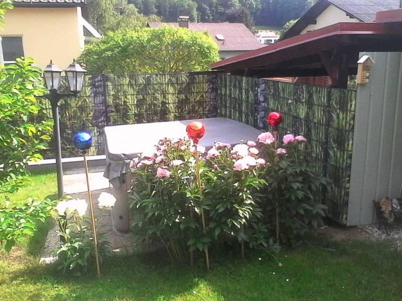 Zaun Sichtschutz Bambus Garten
