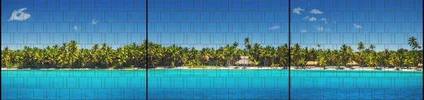 Palm Beach - Panorama XXL bedruckte Sichtschutzstreifen für Doppelstabmattenzaun