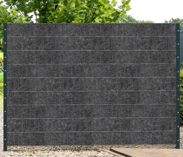 Florenz (grau) - Design Vlies Sichtschutz Mattenzaun