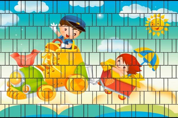 Lok - Bedruckte Sichtschutzstreifen für Zäune Klemmschienen