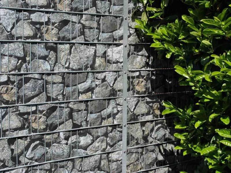 Zaun Sichtschutz Bruchstein