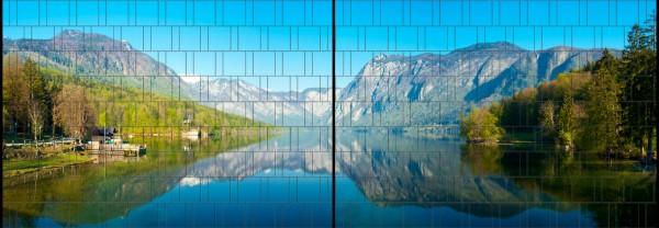 Fjord - Panorama XL bedruckte Sichtschutzstreifen für Doppelstabmattenzaun