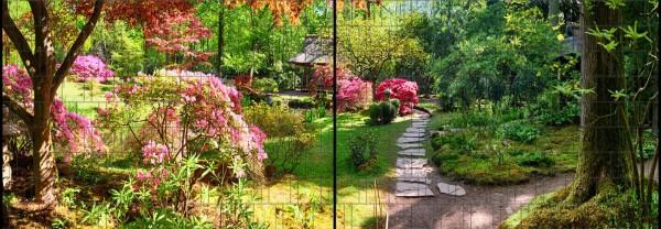 Natur - Panorama XL bedruckte Sichtschutzstreifen für Doppelstabmattenzaun