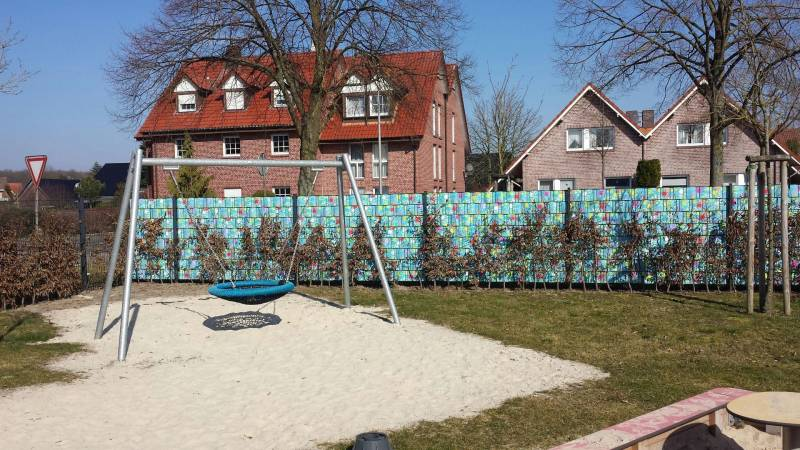 Zaun Sichtschutz Milano Kindergarten Spielanlage