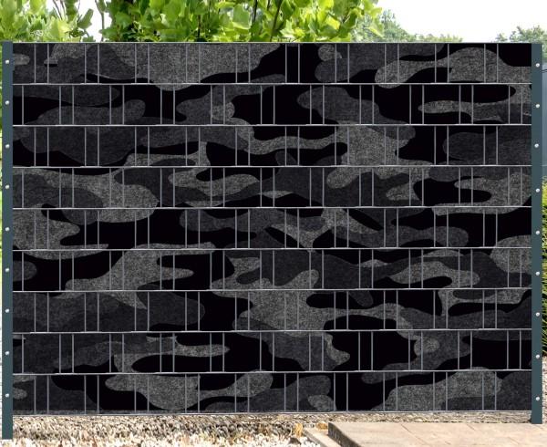 Florenz Camouflage - Melange mit schwarzen Motivdruck